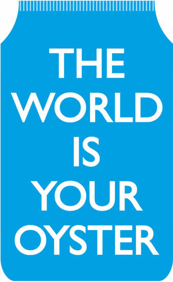 The World Is Your Oyster Blue Travel Wallet Funny