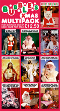 Bubbles Christmas Funny Card Multipack