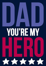 Dad You're My Hero Funny Fathers Day Card