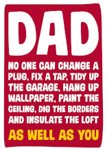 Dad no one can change a plug as well as you