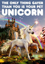 Your Pet Unicorn Funny Birthday Card