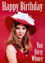 Happy Birthday You Dirty Whore Funny Birthday Card