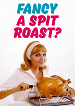 Fancy A Spit Roast Funny Birthday Card