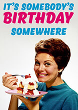 It's Somebody's Birthday Somewhere Funny Birthday Card
