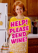 Help! Please Send Wine Funny Birthday Card