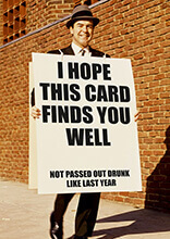 I Hope This Card Finds You Well Funny Birthday Card