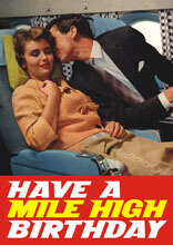 Have A Mile High Birthday Funny Birthday Card