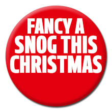 Fancy A Snog This Christmas Funny Badge
