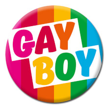 Gay Boy Funny Badge