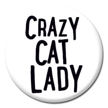 Crazy Cat Lady Funny Badge