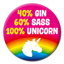 100% Unicorn Funny Badge