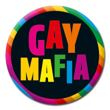 Gay Mafia Funny Badge