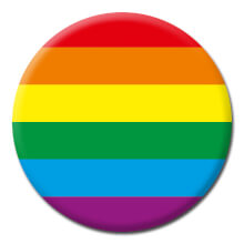Rainbow Flag Funny Badge