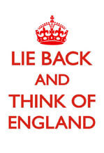 Lie Back And Think Of England Funny Fridge Magnet