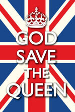 God Save The Queen Funny Fridge Magnet