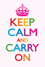 Keep Calm And Carry On Rainbow Funny Fridge Magnet