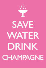 Save Water Drink Campagne magnet