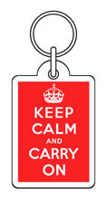 Keep Calm And Carry On Funny Keyring