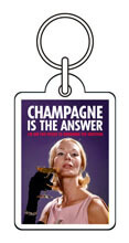 Champagne Is The Answer Funny Keyring