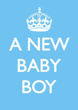 A New Baby Boy Funny Baby Card