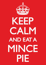 Keep Calm And Eat A Mince Pie Funny Christmas Card
