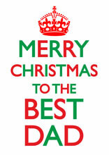 Merry Christmas To The Best Dad Funny Christmas Card
