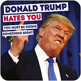 Donald Trump Hates You Funny Coaster
