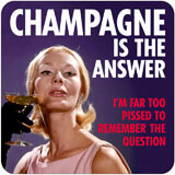 Champagne Is The Answer Funny Coaster