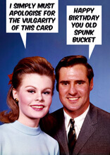 Happy Birthday You Old Spunk Bucket Funny Birthday Card