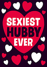 Sexiest Hubby Ever Funny Valentines Card