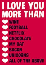 I Love You More Than Funny Valentines Card