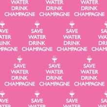 Save Water Drink Champagne Gift Wrap X 3 Sheets Funny