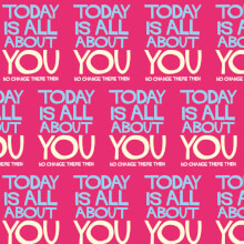 Today Is All About You Gift Wrap X 3 Sheets Funny