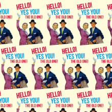 Hello Yes You The Old One! Gift Wrap X 3 Sheets Funny