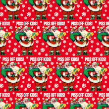 Piss Off Kids Christmas Giftwrap X 3 Sheets Funny