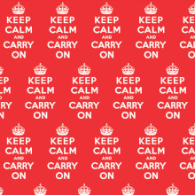 Keep Calm And Carry On Gift Wrap X 3 Sheets Funny