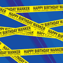 Happy Birthday Wanker Gift Wrap X 3 Sheets Rude