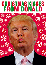 Christmas Kisses From Donald Funny Christmas Card