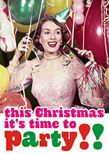 This Christmas It's Time To Party Funny Christmas Card