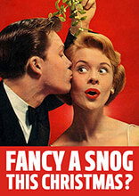 Fancy a Snog This Christmas Funny Christmas Card