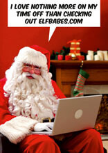 I Love Nothing More Than Checking Out Elfbabes.com Funny Christmas Card