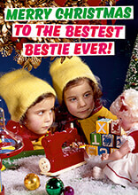 Merry Christmas to the Bestest Bestie Ever Funny Christmas Card