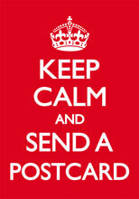 Keep Calm And Send A Postcard Funny