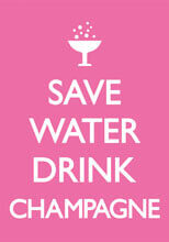 Save Water Drink Champagne Postcard Funny
