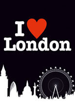 I Love London Postcard Funny