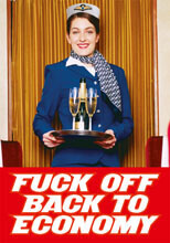 Fuck Off Back To Economy Postcard Rude