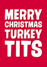 Merry Christmas Turkey Tits Rude Christmas Card