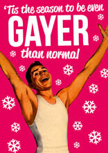 'Tis The Season To Be Ever Gayer Than Normal Funny Christmas Card