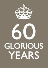60 Glorious Years Funny Greeting Card