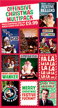 Offensive Christmas Rude Card Multipack